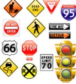 Traffic sign test